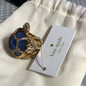 Kate spade blue turtle ring 7